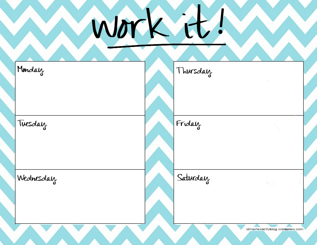 reusable workout planner