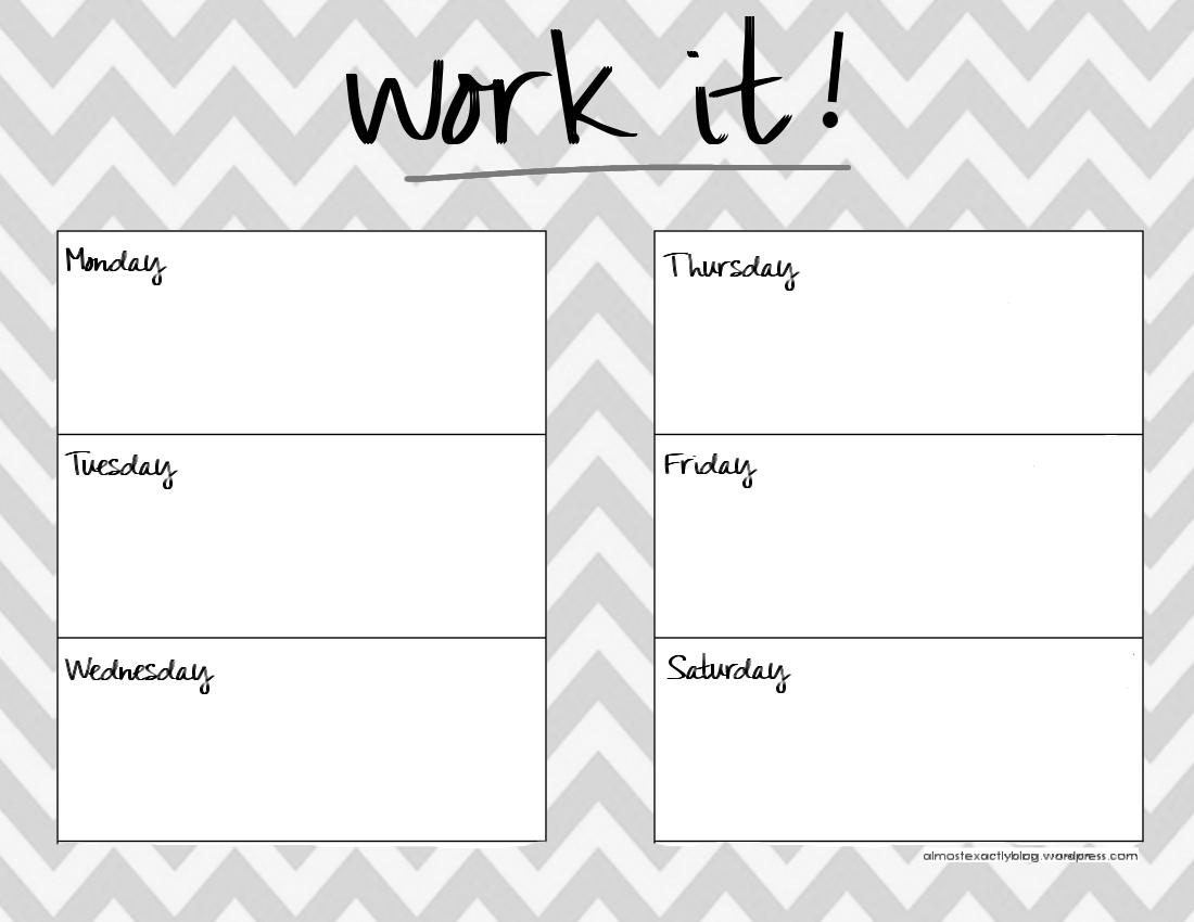 weekly workout calendar template - Monza berglauf-verband com