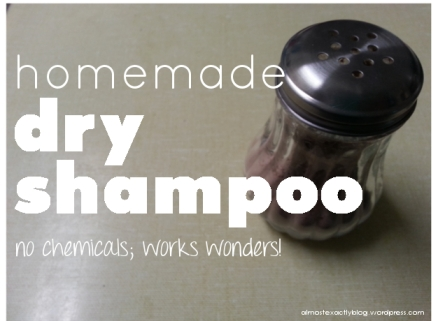 homemade dry shampoo (no chemicals)