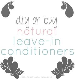 diy or buy these natural leave-in conditioners