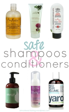 safe shampoos & conditioners (free from harsh chemicals!)