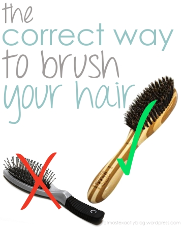 the correct way to brush your hair (avoid common damaging mistakes you could be making)