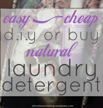 easy & super cheap natural laundry detergent - get away from the chemicals AND save money!