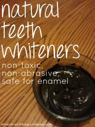all natural teeth whiteners - safe for enamel!