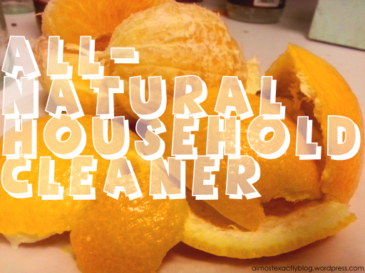all natural, super easy household cleaner using orange peels