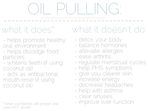 oil pulling - what it does and doesnt do