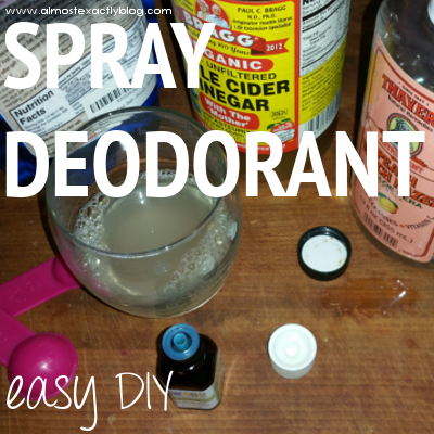 easy DIY spray deodorant