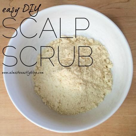 DIY scalp exfoliation